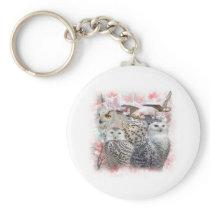 Snowy Owls Keychain