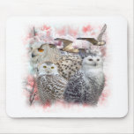 Snowy Owls Mouse Mats