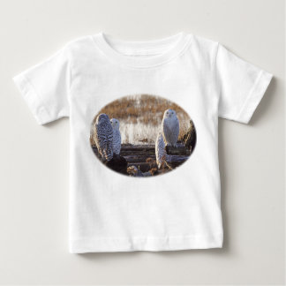 Snowy Owls Photo Baby T-Shirt