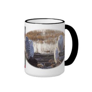 Snowy Owls Photo Coffee Mugs