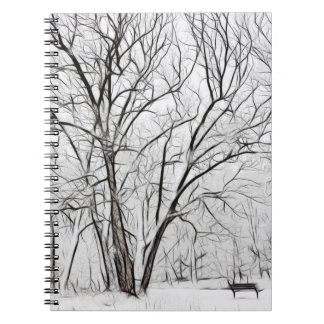 Snowy park notebook
