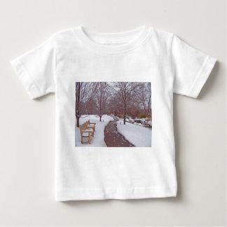 SNOWY PARK PATH BABY T-Shirt