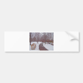 SNOWY PARK PATH BUMPER STICKER