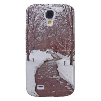 SNOWY PARK PATH GALAXY S4 COVER