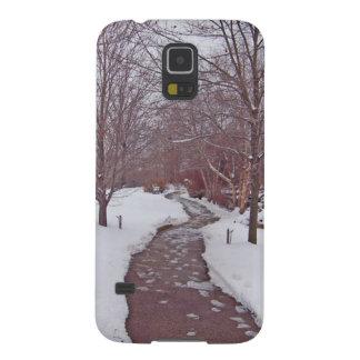 SNOWY PARK PATH GALAXY S5 COVER