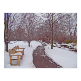 SNOWY PARK PATH POSTCARD