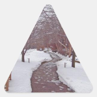 SNOWY PARK PATH TRIANGLE STICKER