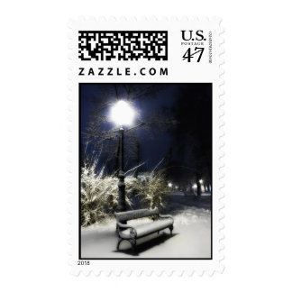 Snowy Park Postage Stamp