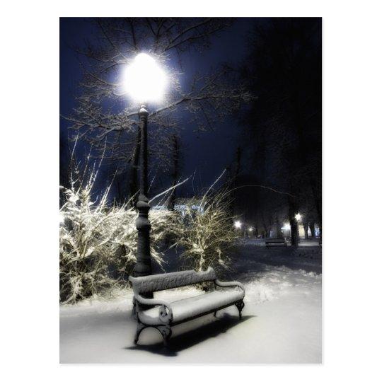Snowy Park Postcard