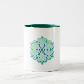 Snowy Pastel Winter Christmas Snowflake Coffee Mug