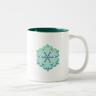 Snowy Pastel Winter Christmas Snowflake Coffee Mugs