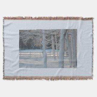 Snowy Pasture Throw Blanket