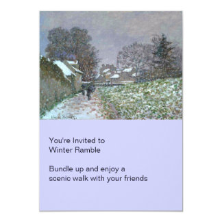 Snowy Path at Argenteuil 5x7 Paper Invitation Card