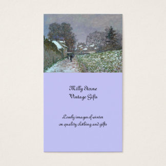 Snowy Path at Argenteuil Business Card