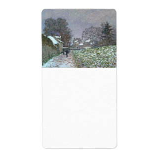 Snowy Path at Argenteuil Personalized Shipping Label