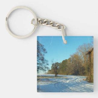 Snowy Path Keychain