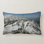 Snowy Peaks of Grand Teton Mountains I Photography Lumbar Pillow