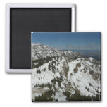 Snowy Peaks of Grand Teton Mountains I Photography Magnet