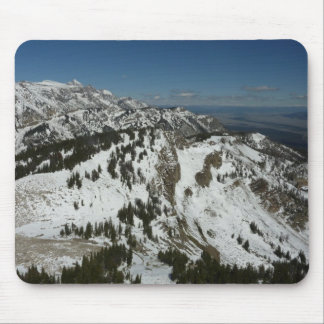 Snowy Peaks of Grand Teton Mountains I Photography Mouse Pad