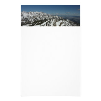 Snowy Peaks of Grand Teton Mountains I Photography Stationery
