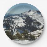 Snowy Peaks of Grand Teton Mountains II Paper Plate