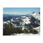 Snowy Peaks of Grand Teton Mountains II Photo Canvas Print