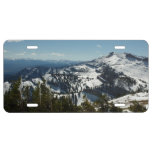 Snowy Peaks of Grand Teton Mountains II Photo License Plate