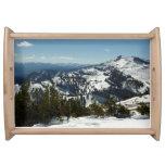 Snowy Peaks of Grand Teton Mountains II Photo Serving Tray