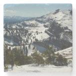 Snowy Peaks of Grand Teton Mountains II Photo Stone Coaster