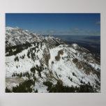 Snowy Peaks of Grand Teton Mountains Print