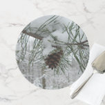 Snowy Pine Branch Cake Stand