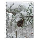 Snowy Pine Branch Notebook