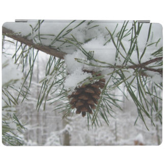 Snowy Pine Branch Winter Nature Photography iPad Smart Cover