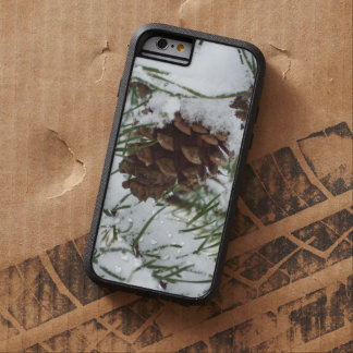 Snowy Pine Cone I Winter Nature Photography Tough Xtreme iPhone 6 Case