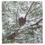 Snowy Pine Cone II Napkin