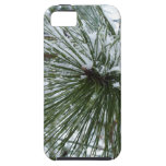 Snowy Pine Needles Green and White Winter Photo iPhone SE/5/5s Case