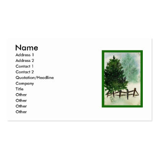 Snowy Pine Tree Business Card