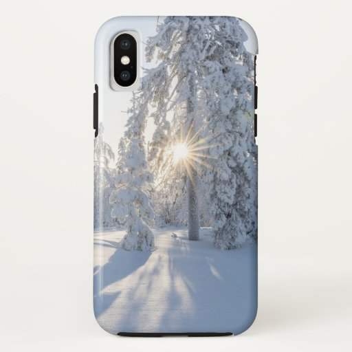 Snowy Pine Tree's iPhone X Case