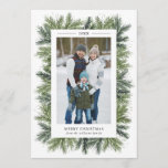 "Snowy Pines Christmas Photo Card<br><div class=""desc"">5x7 Snowy Pines,  Christmas Photo card. Customizable. Part of a collection</div>"
