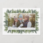 "Snowy Pines Christmas Photo Card<br><div class=""desc"">7x5 Snowy Pines,  Christmas photo card. Customizable. Part of a collection</div>"