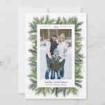 """Snowy Pines Christmas Photo Card<br><div class=""""desc"""">5x7 Snowy Pines,  Christmas Photo card. Customizable. Part of a collection</div>"""