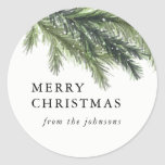 """Snowy Pines Christmas Sticker<br><div class=""""desc"""">Snowy Pines Chrsitmas Sticker,  Customizable,  Part of a collection</div>"""