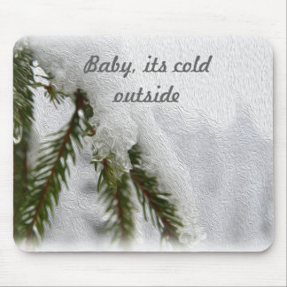 Snowy Pines Mouse Pad