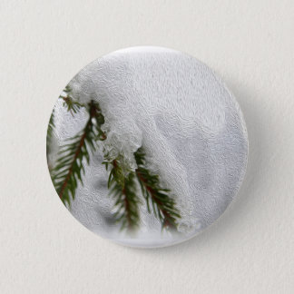 Snowy Pines Pinback Button