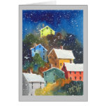 Snowy Pittsburgh Hillside Houses Greeting Card