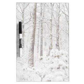 Snowy Pocono Wonderland Dry Erase Board