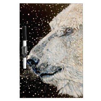 Snowy Polar bear Dry-Erase Board
