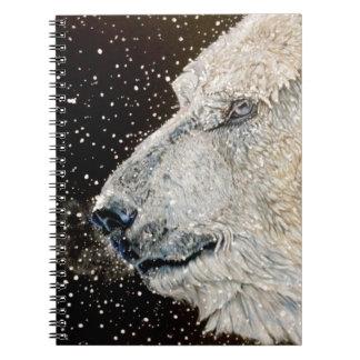 Snowy Polar bear Spiral Note Books