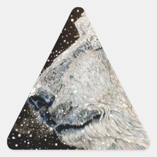 Snowy Polar bear Triangle Sticker