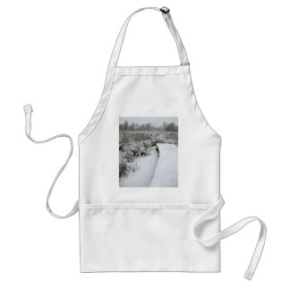 Snowy Pond Aprons